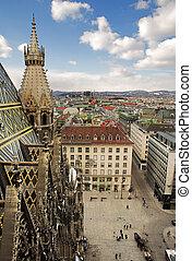 Vienna #62 - The Vienna Skyline and St Stephens DOM Tower