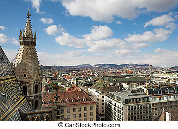 Vienna #65 - The Vienna Skyline and St Stephens DOM Tower