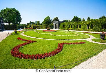 Schonbrunn Palace floral garden
