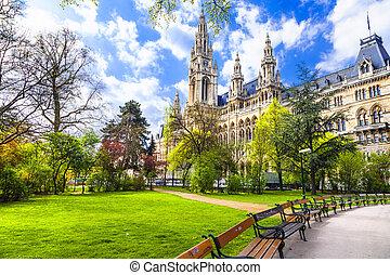 Vienna, Austria - Beautiful Park Near City Hall In...