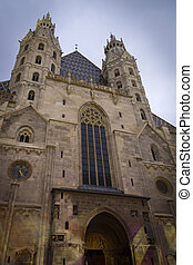 Vienna Cathedral at dusk
