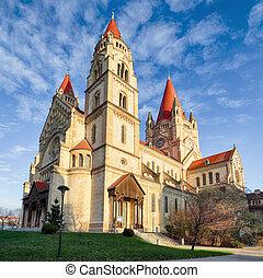 Vienna, Church Heiliger Franz of Assisi at Mexikoplatz, Austria