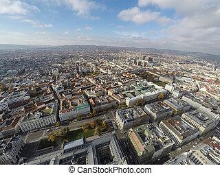 Vienna from above - Aerial view on Vienna