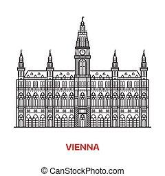 Vienna Landmark Vector Illustration