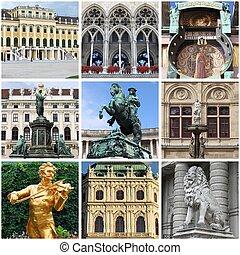 Vienna landmarks collage