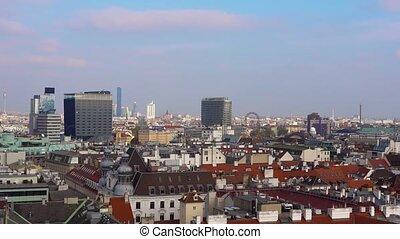 Vienna skyline, Austria. Aerial view of Vienna. Austria....