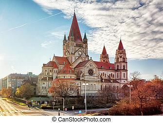 Vienna - St. Francis of Assisi Church, Austria.