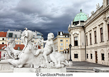 Vienna, Austria - Belvedere Palace building. The Old Town is...