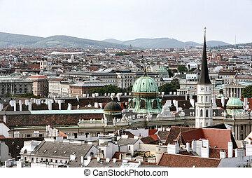 Vienna - Panorama of Vienna - cityscape of Austrian capital...
