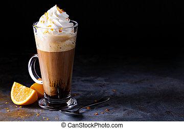 viennese, コーヒー, 暑い, ホイップクリーム