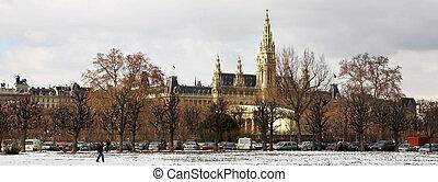 Viennese Landmarks - The Town Hall (Wien Rathaus) buildings...