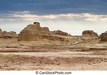 viento, erosión, landform, paisaje