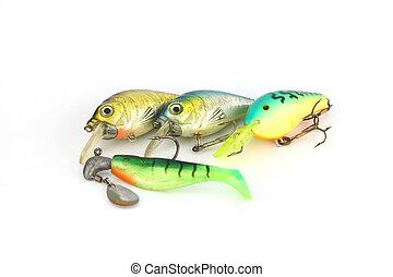 vier, action., luer, visserij