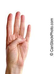 vier, finger