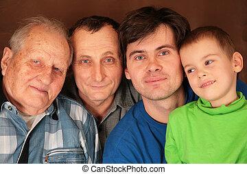vier, generaties