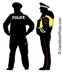 vier, gewalttätigkeit, polizei