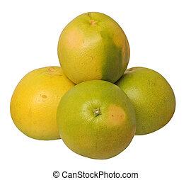 vier, groß, pomelo