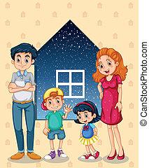 vier, huisgenoten