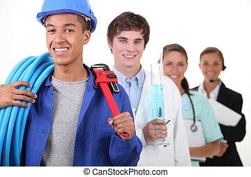 vier, installatiebedrijf, anders, beroepen, brandpunt