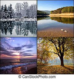 vier jahreszeiten, collage