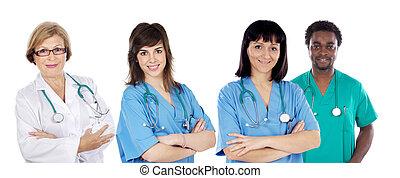 vier, medisch team, artsen