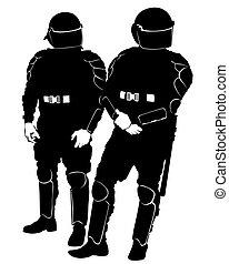 vier, polizei, besondere
