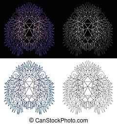 vier, polygonal, satz, loewen
