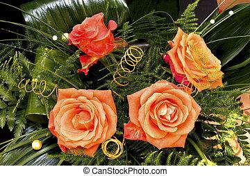 vier, rozen