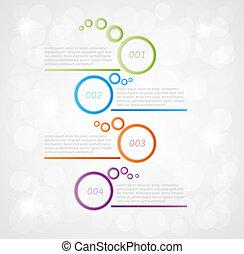 vier, schritte, infographics