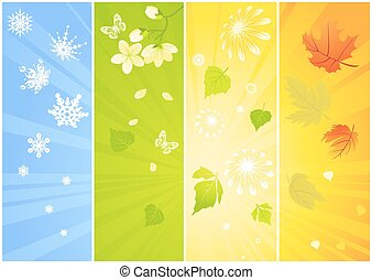 vier, seizoense afkomst