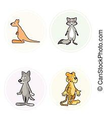 vier, set, dieren