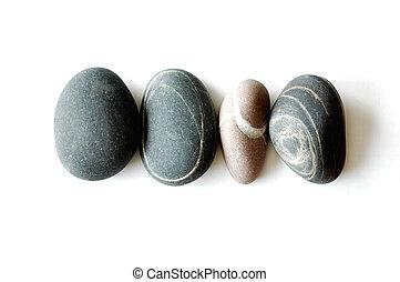vier, steine