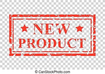 vier, stijl, product, postzegel, effect, rubber, achtergrond, nieuw, transparant, rood