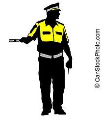 vier, verkehr, polizei