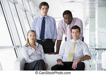 vier, vorhalle, buero, businesspeople