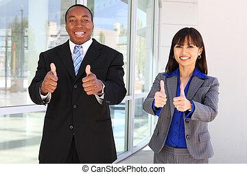 vieren, anders, zakelijk, succes, team