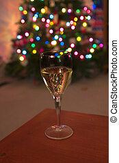 vieren, de, feestdagen, met, wijntje