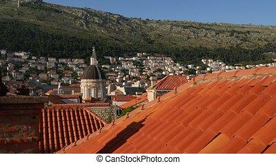 vierge, dôme cathédrale, marie, dubrovnik, croatia., ...