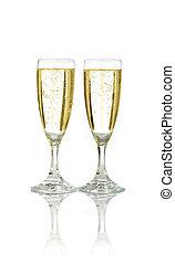 viering, met, champagne
