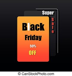 viernes, negro, advertise., plano de fondo, colores, diseño...