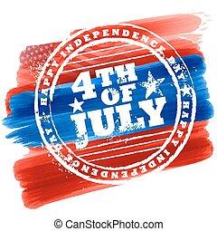 viert, hintergrund, juli, amerika, tag, unabhängigkeit, glücklich