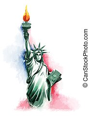 viert, juli, amerika, tag, unabhängigkeit, glücklich
