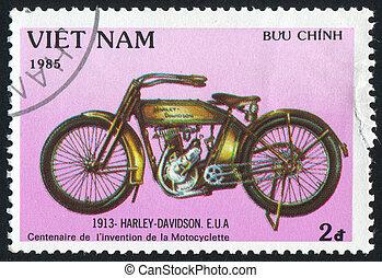 Harley Davidson - VIET NAM - CIRCA 1985: stamp printed by ...