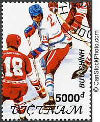 VIETNAM - 1991: shows Hockey, 1992 Winter Olympics,...