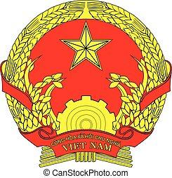Vietnam coa - Various vector flags, state symbols, emblems...