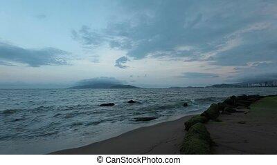 Vietnam Coastline Time Lapse - A sunset evening skyline time...