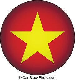 Vietnam flag button.