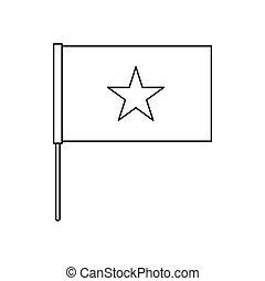 Vietnam flag icon, outline style