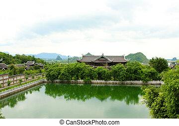vietnam, hermoso, arquitectura