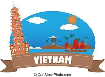 vietnam., idegenforgalom, utazás